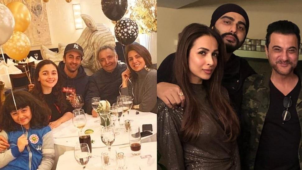 आलिया ने रणबीर तो अर्जुन ने मलाइका के साथ कुछ यूं मनाया New Year का जश्न, Viral हुए Photos