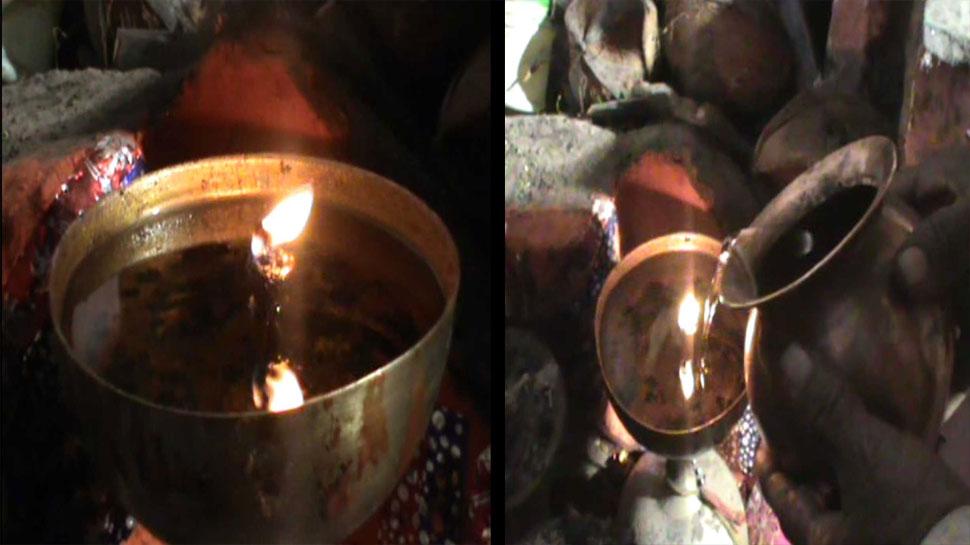 राजस्थान: सैकड़ों साल पुराने मंदिर में पानी से जलाई जाती है 'अखंड ज्योति', देखें VIDEO