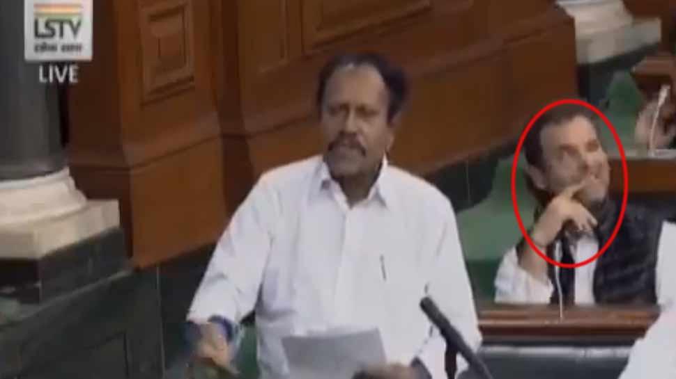 VIDEO: राहुल गांधी ने संसद में फिर से मारी आंख, BJP बोली- मदद की जरुरत