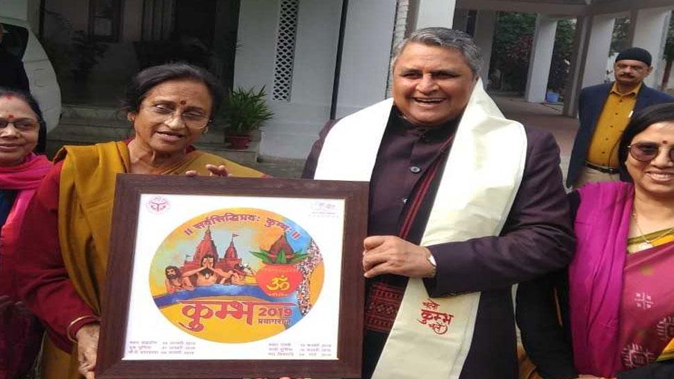 कुंभ का न्योता देने यूपी की मंत्री रीता बहुगुणा पहुंची बिहार