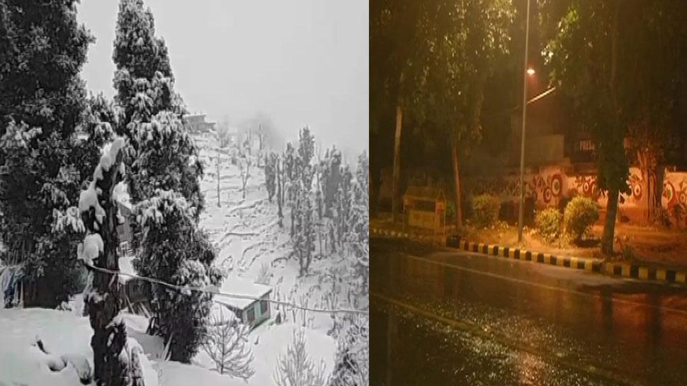 पहाड़ों पर भारी बर्फबारी ने मैदानों में बढ़ाई ठंड, दिल्ली-एनसीआर में बरसे बादल