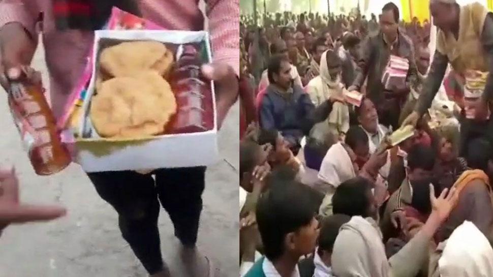 हरदोई: नरेश अग्रवाल के बेटे की सभा में पूड़ी-सब्जी के साथ परोसी गई शराब, BJP सांसद ने की शिकायत