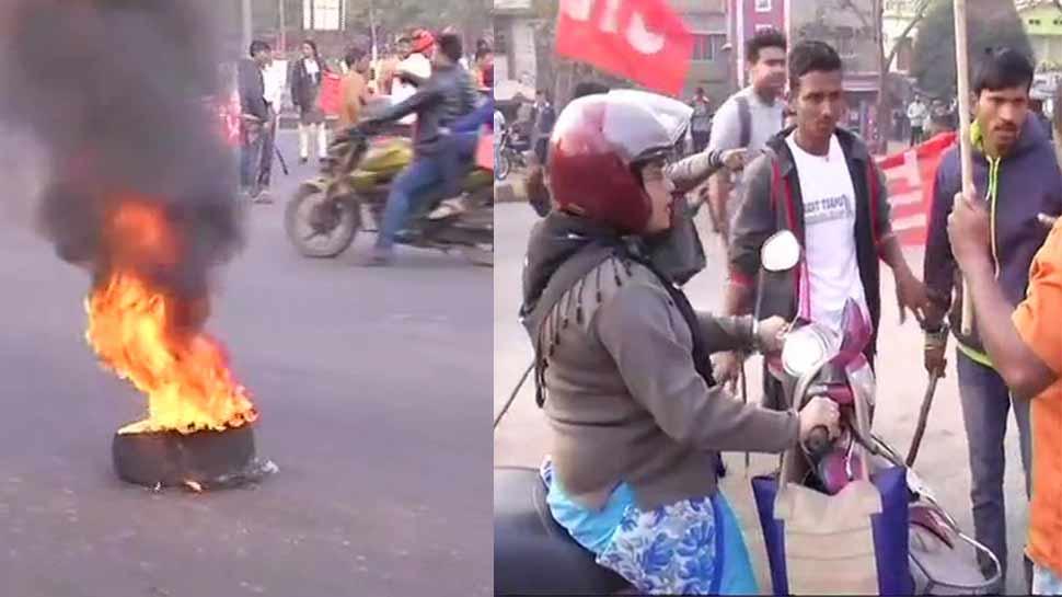 ट्रेड यूनियन हड़तालः ओडिशा में हिंसक प्रदर्शन, प. बंगाल में TMC-CPM कार्यकर्ताओं में भिड़ंत