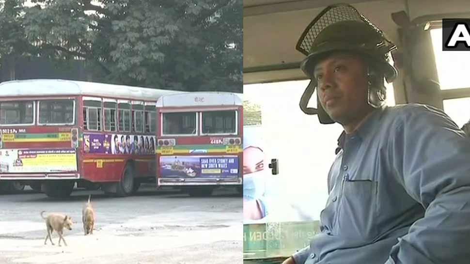 ट्रेड यूनियन हड़ताल का दूसरा दिन, हिंसा की आशंका के चलते प. बंगाल में बस ड्राइवरों ने लगाया हेलमेट