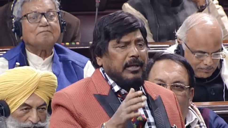 केंद्रीय मंत्री रामदास अठावले ने फिर पेश की तुकबंदी, राज्यसभा में गूंजे ठहाके