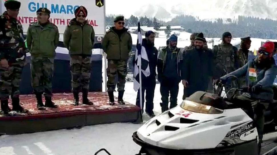 सेना ने 'बर्फ की रानी' गुलमर्ग में आयोजित किया यूथ स्नो फेस्टिवल