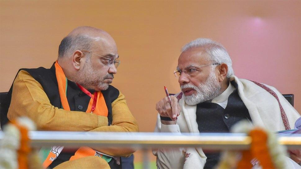 अमित शाह ने BJP कार्यकर्ताओं से कहा, 'तीन राज्यों के चुनाव परिणामों से न गिराएं मनोबल'