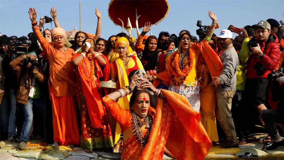 किन्नर अखाड़ा, Kinnar Akhara, pilgrims, Kumbh Mela, Kumbh Mela 2019, Kinnar akhada