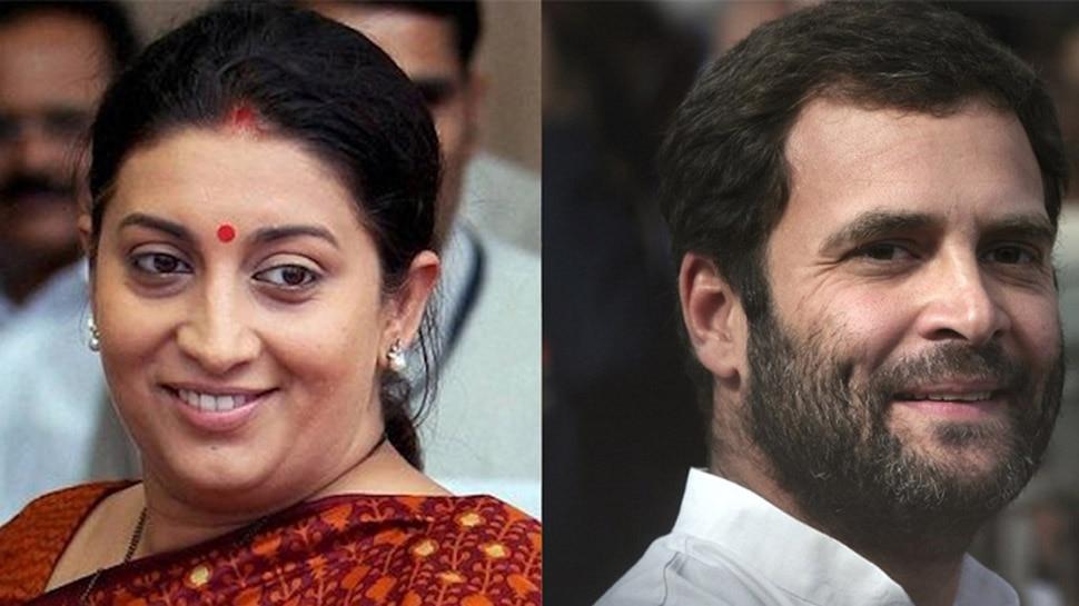 राहुल के बयान पर स्मृति का पलटवार, 'गांधी परिवार ने खुद को ही भारत रत्न से सम्मानित किया'