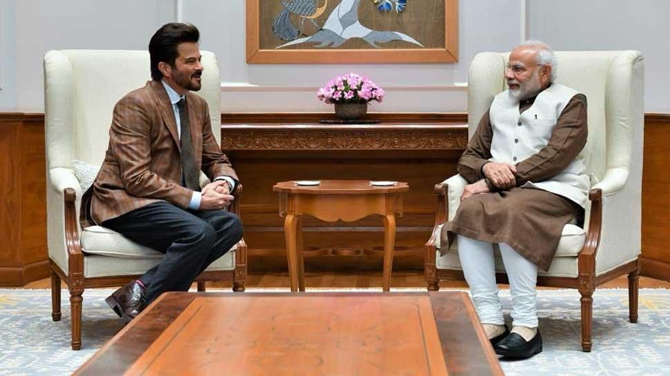 'मिस्टर इंडिया' अनिल कपूर ने की पीएम 'इंडिया' से खास मुलाकात, देखिए तस्वीर