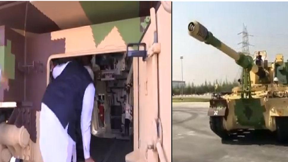 VIDEO : PM मोदी ने की K9 वज्र टैंक की सवारी, दुश्मनों को चारों खाने कर सकता है चित