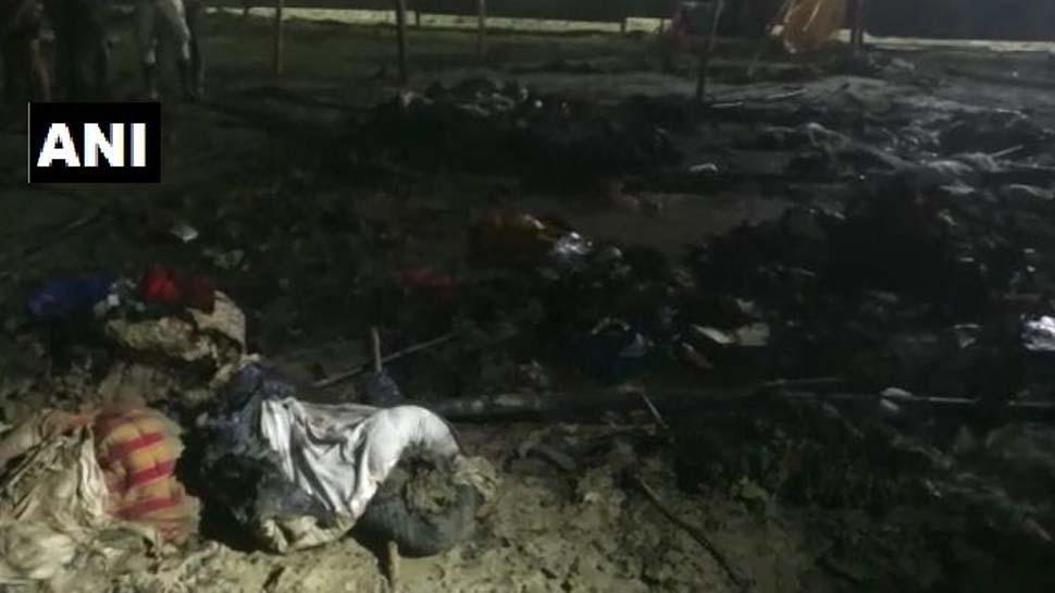 प्रयागराज: कुंभ मेले में फिर लगी आग, कोई हताहत नहीं