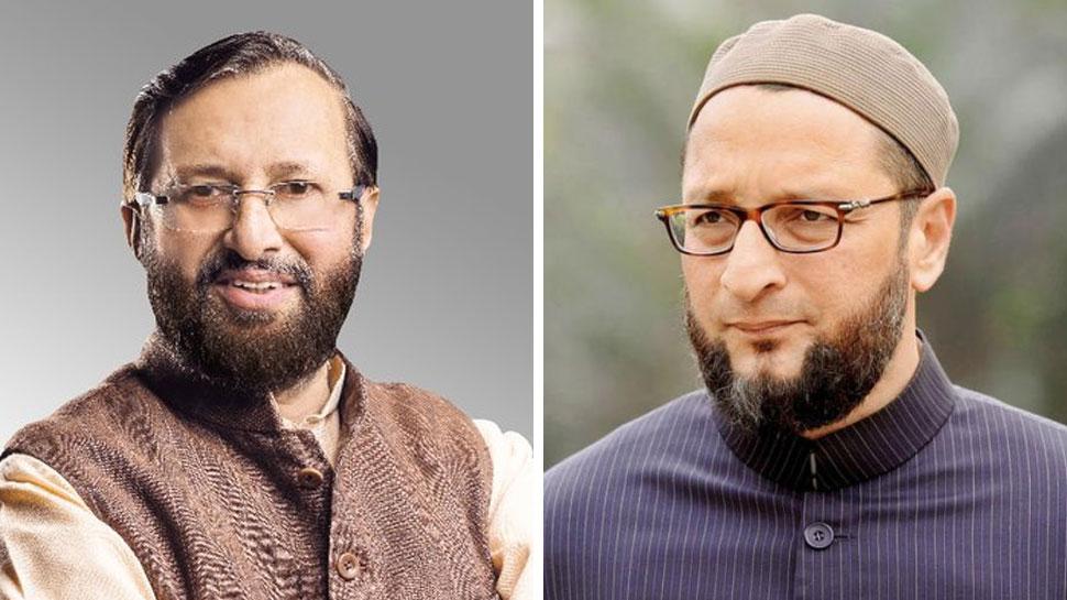 BJP की फासीवादी सोच को दिखाता है प्रकाश जावड़ेकर का बयान: ओवैसी