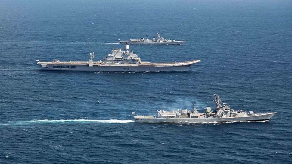 देश की 7500 किमी लंबी समुद्री सीमा पर नौसेना का अब तक का सबसे बड़ा सैन्य अभ्यास