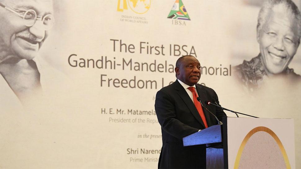 गांधी और मंडेला एक सहिष्णु दुनिया देखना चाहते थे : दक्षिण अफ्रीकी राष्ट्रपति