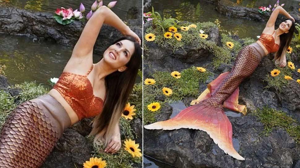 जलपरी बनी सनी लियोनी तो धड़का यो यो हनी सिंह का दिल, बोले- 'मछली जल की रानी है'