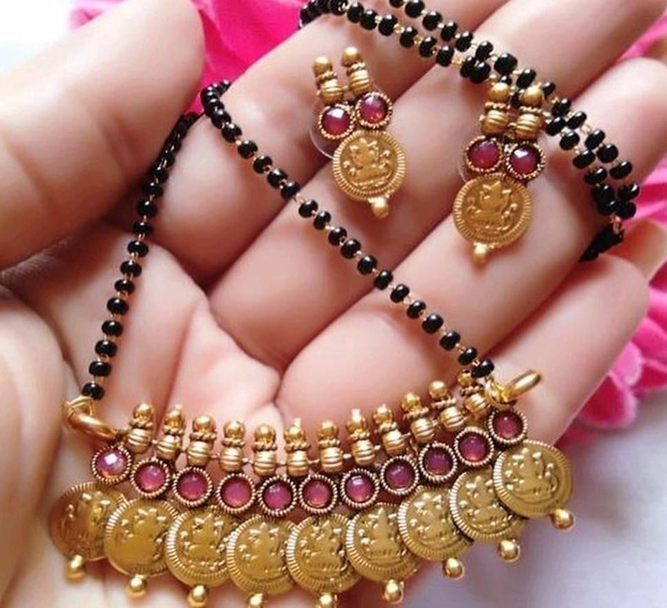 Hangig beads mangalsutra