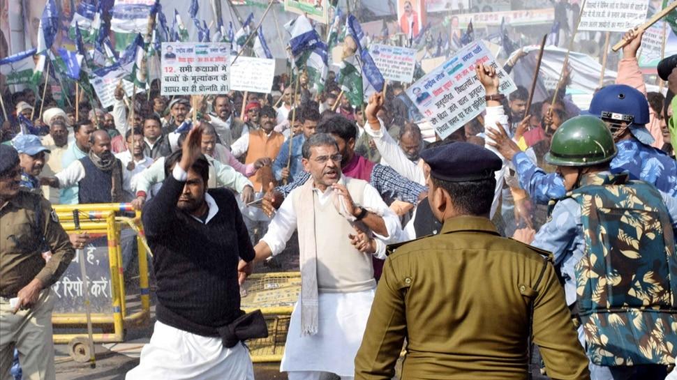 बिहार: बंद को सफल बनाने में जुटी आरएलएसपी, कई जिलों में दिख रहा असर
