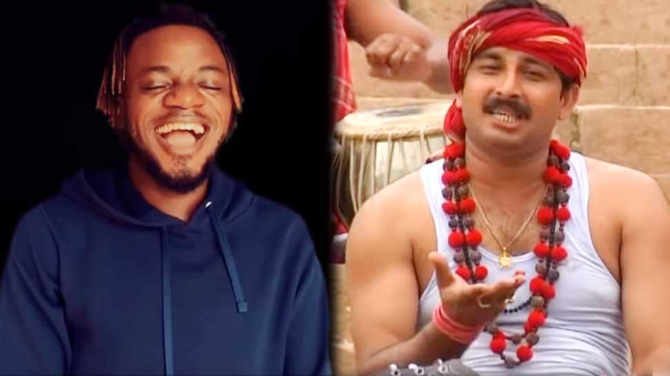 VIDEO: मनोज तिवारी का गाना 'रिंकिया के पापा' गाते ही हिट हुआ यह नाइजीरियन लड़का