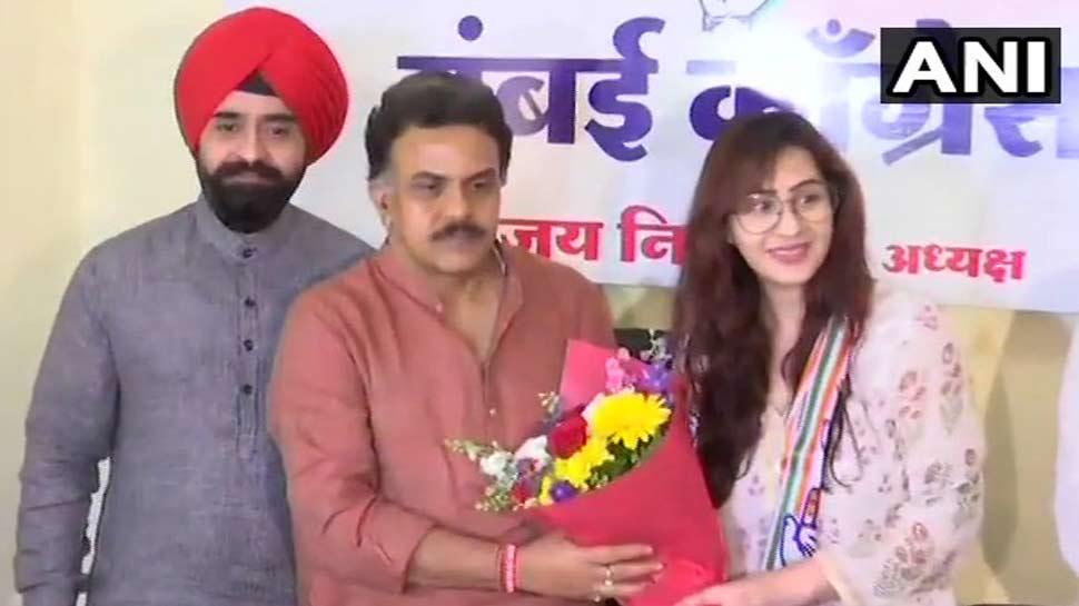 टीवी एक्ट्रेस शिल्पा शिंदे कांग्रेस में हुईं शामिल, रह चुकी हैं Bigg Boss Winner