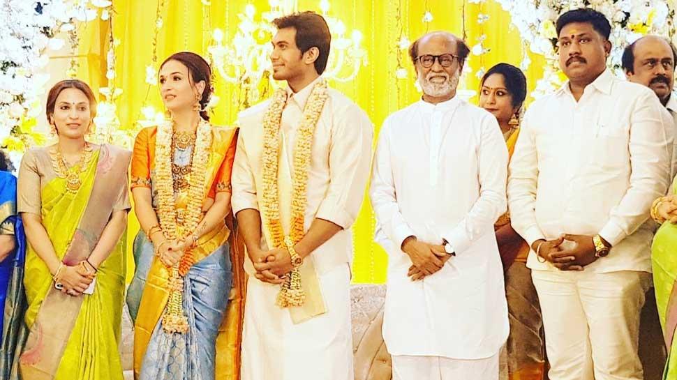 रजनीकांत की बेटी सौंदर्या की शादी की तैयारी पूरी, देखें प्री-वेडिंग पार्टी की PICS