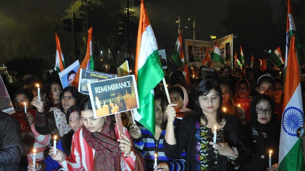 अमेरिका में सैकड़ो भारतीयों ने पुलवामा हमले पर शोक प्रकट किया