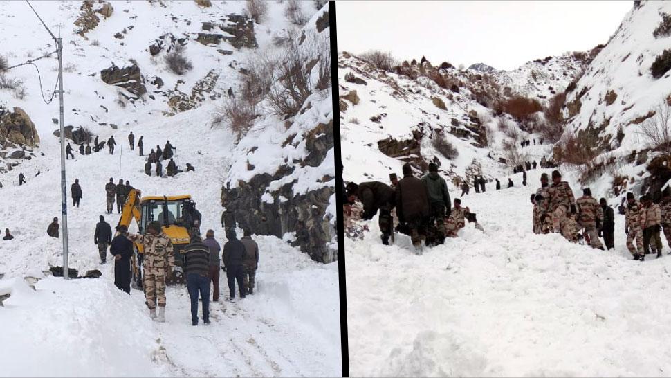 हिमस्खलन की चपेट में आए सेना के 6 जवान, बर्फबारी के चलते रुका राहत बचाव कार्य