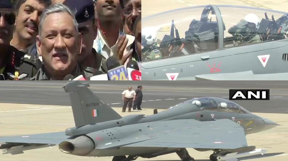 VIDEO: सेना प्रमुख जनरल बिपिन रावत ने लड़ाकू विमान तेजस में भरी उड़ान, HAL ने किया है निर्माण