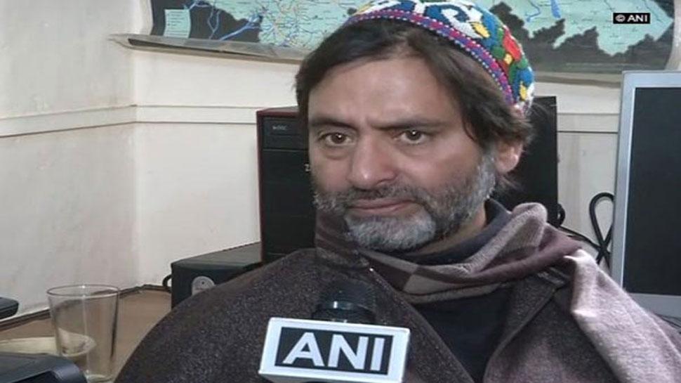 जम्मू कश्मीर : पुलवामा हमले के बाद एक्शन में सरकार, JKLF प्रमुख यासीन मलिक हिरासत में