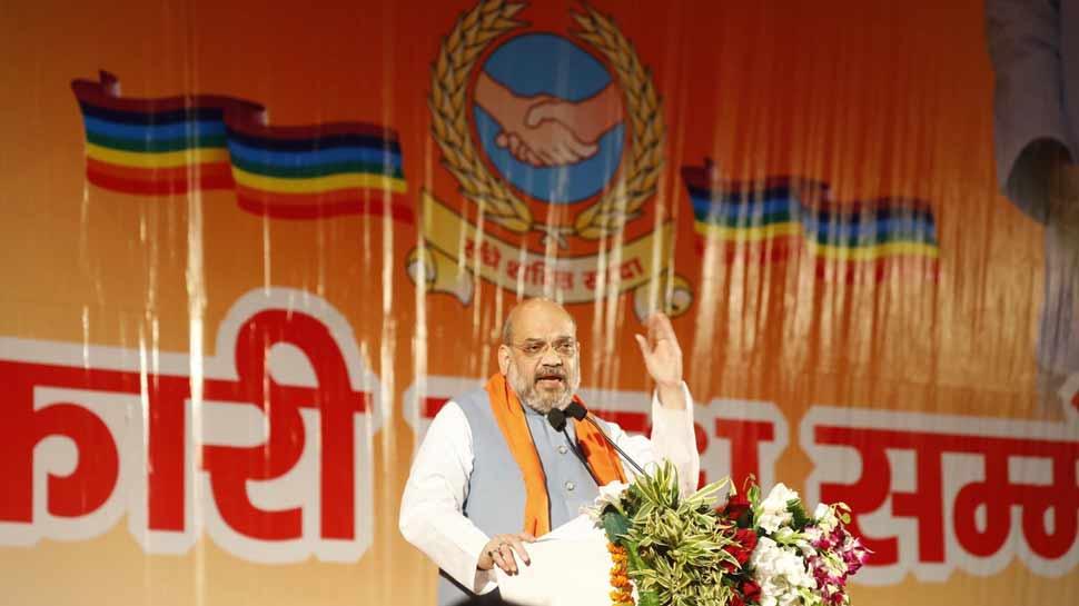 विपक्ष पर फिर गरजे अमित शाह, कहा- 'SP-BSP सरकार में चरमरा गया था UP का प्रशासनिक ढांचा'