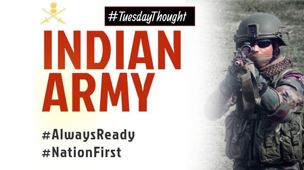 पाकिस्तान पर एयर स्ट्राइक के बाद भारतीय सेना ने शेयर की राष्ट्रकवि दिनकर की कविता