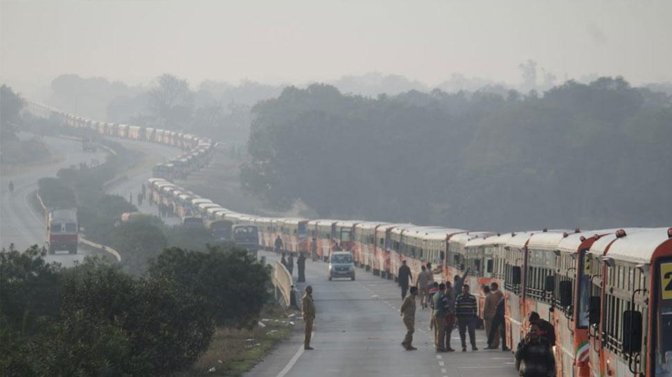 प्रयागराज: गिनीज रिकॉर्ड के लिए UPSRTC ने निकाला 510 बसों का काफिला