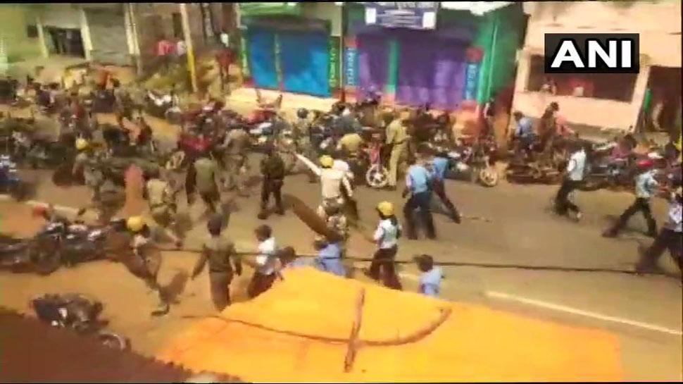 बंगाल: बीजेपी की 'विजय संकल्प रैली' रोकी गई, पार्टी कार्यकर्ताओं और पुलिस में झड़प