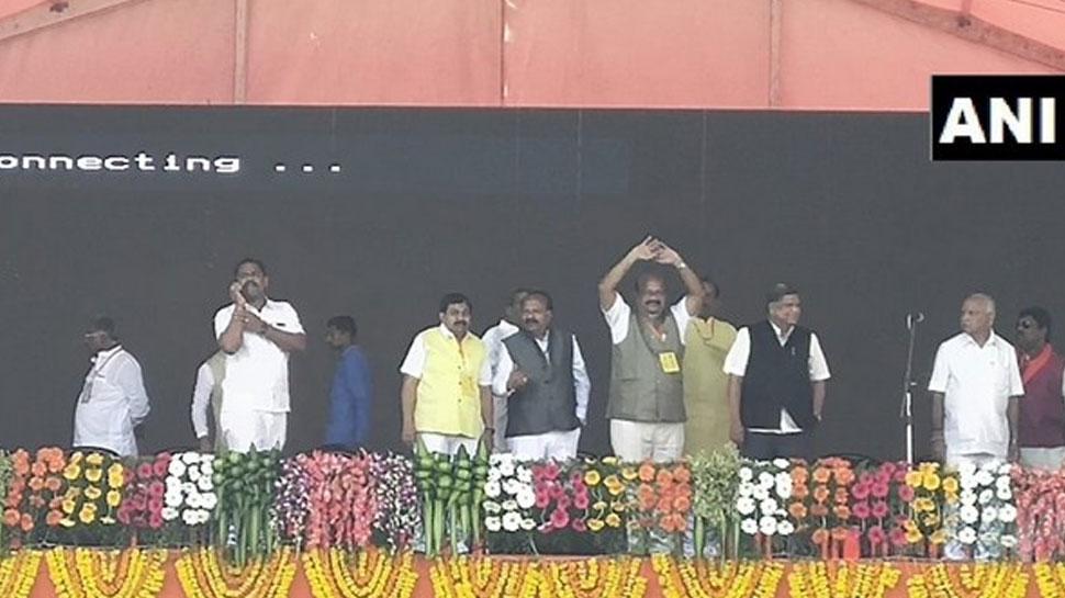कर्नाटक: कांग्रेस को बड़ा झटका, बागी विधायक उमेश जाधव बीजेपी में शामिल