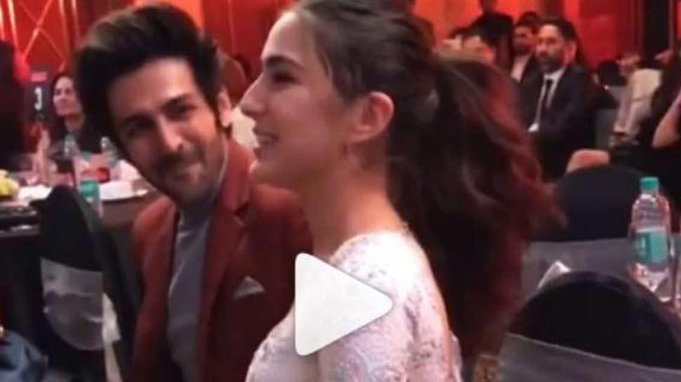 कार्तिक आर्यन और सारा अली खान का Kissing सीन लीक, वायरल हुआ VIDEO