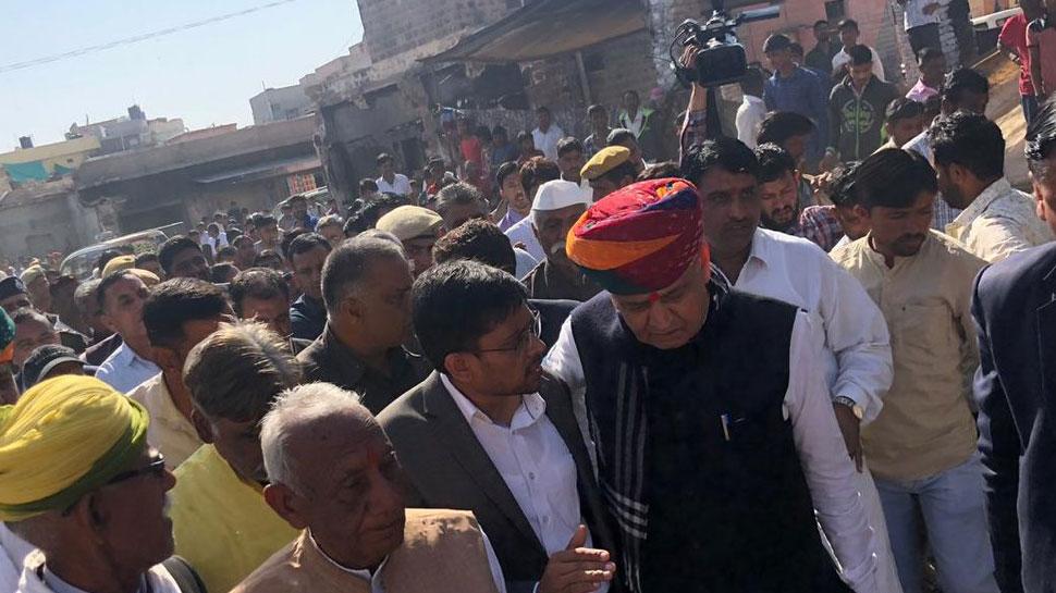 रामदेवरा पहुंचे CM गहलोत, आगजनी पीड़ितों को 2 लाख मुआवजे का किया ऐलान