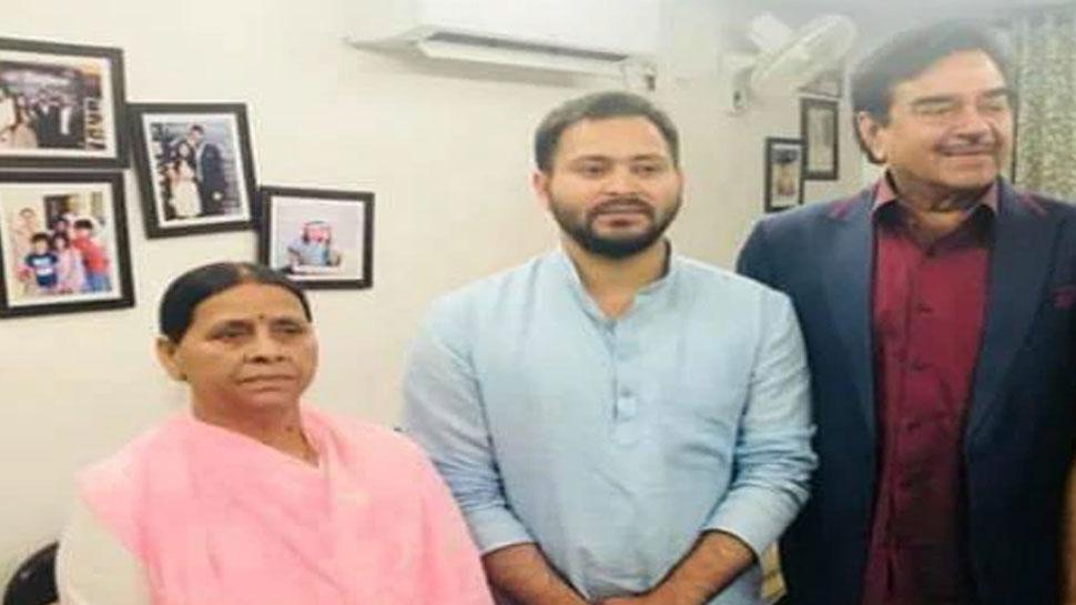राबड़ी से मिले शत्रुघ्न सिन्हा, बोले - अभी भी मैं BJP में हूं, जल्द तय होगी नई पार्टी