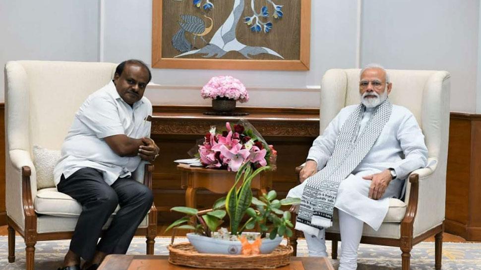 सूखे से परेशान कर्नाटक सरकार, PM मोदी से मिले कुमारस्वामी, राहत सहायता मांगी