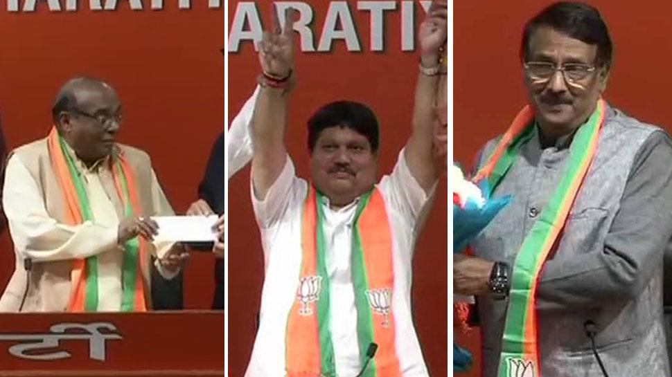 चुनाव से पहले बढ़ी हलचल, एक ही दिन में तीन राज्यों के 3 बड़े नेता BJP में शामिल