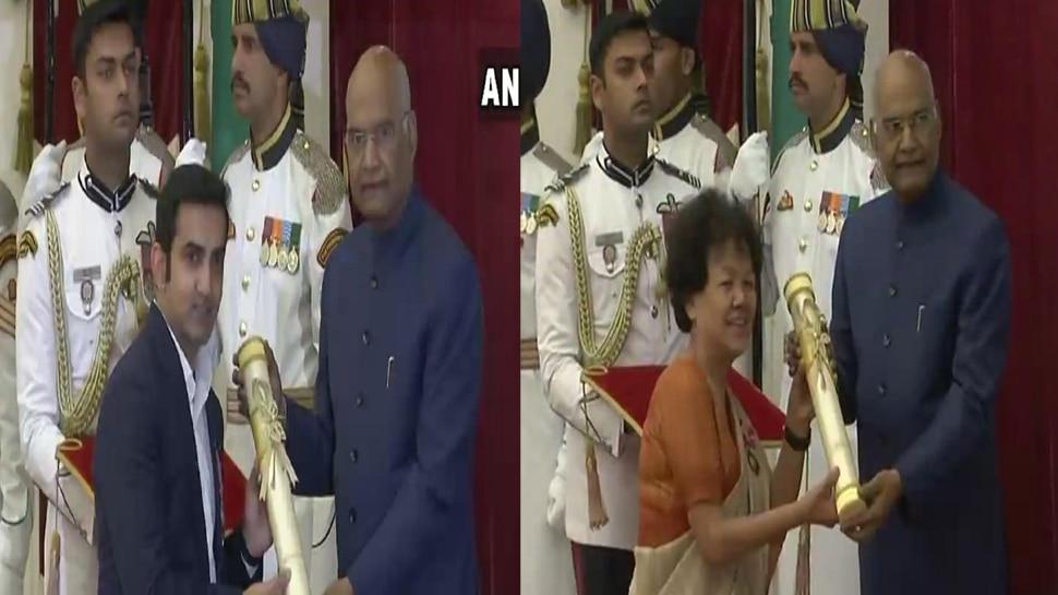 गौतम गंभीर को पद्म श्री और बछेन्द्री पाल को पद्म भूषण सहित खेल की इन हस्तियों को राष्ट्रपति ने किया सम्मानित
