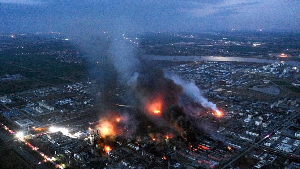 चीन में बड़ा हादसा, केमिकल इंडस्ट्रीयल पार्क में भयंकर विस्फोट, 47 की मौत, 600 से ज्यादा घायल