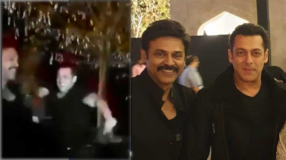 साउथ एक्टर वेंकटेश की बेटी की शादी में जमकर नाचे सलमान खान, VIDEO VIRAL
