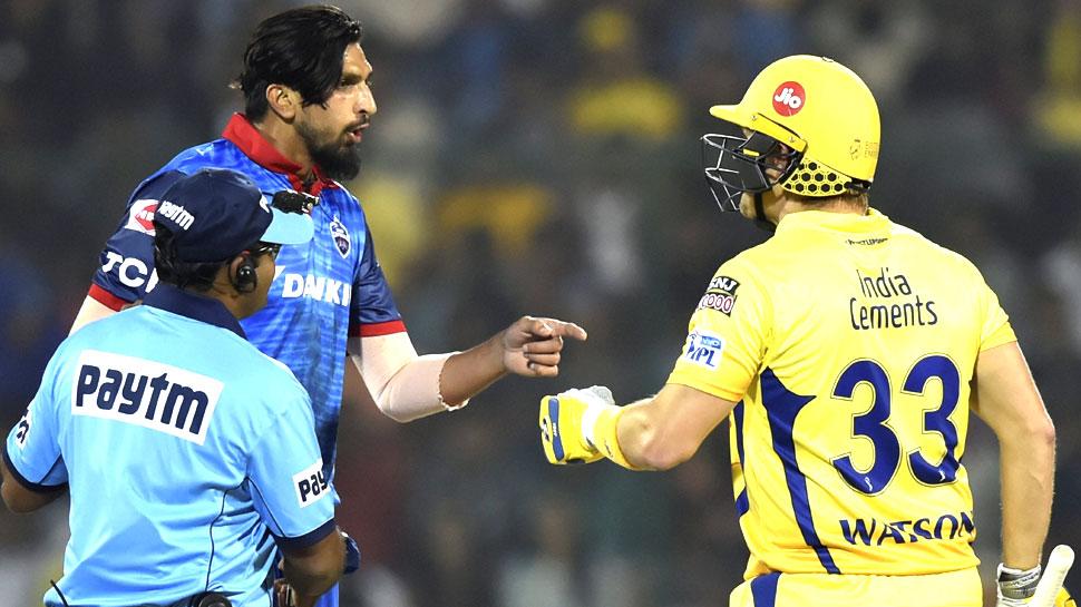IPL 2019: दिल्ली के गेंदबाजों से टकराते दिखे वाटसन, इशांत के बाद रबाडा को बनाया निशाना