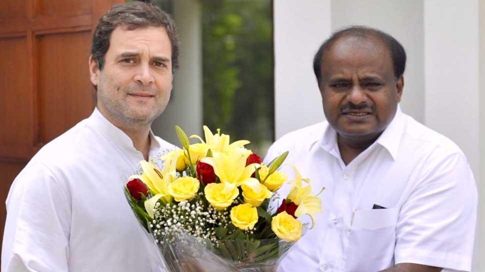 कर्नाटक: कांग्रेस-JDS की रैली आज, राहुल और देवगौड़ा होंगे शामिल