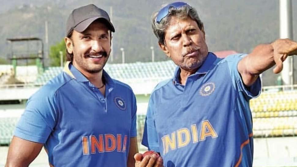 कपिल देव के साथ '83' की तैयारी कर रहे रणवीर सिंह, Photo की शेयर