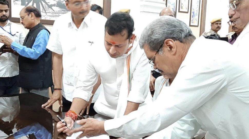 राजस्थान: वैभव गहलोत ने दाखिल किया नामांकन, कांग्रेस के तमाम बड़े नेता मौजूद