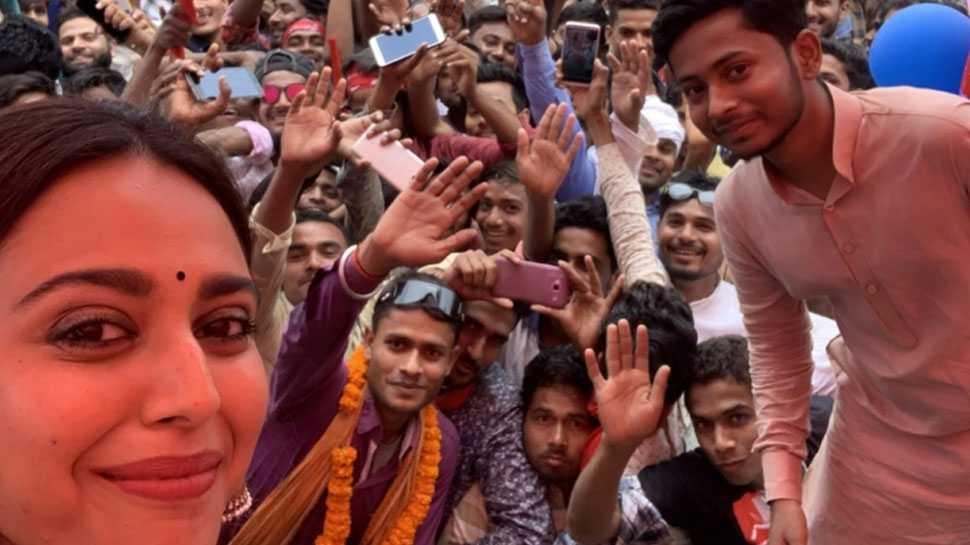 बिहार: अपने जन्मदिन के दिन कन्हैया कुमार के लिए प्रचार करने बेगूसराय पहुंची स्वरा भास्कर