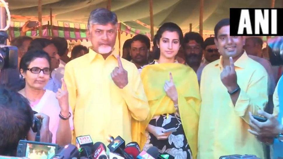 आंध्र प्रदेश: लोकसभा और विधानसभा के लिए मतदान जारी, CM नायडू समेत कई नेताओं ने किया वोट