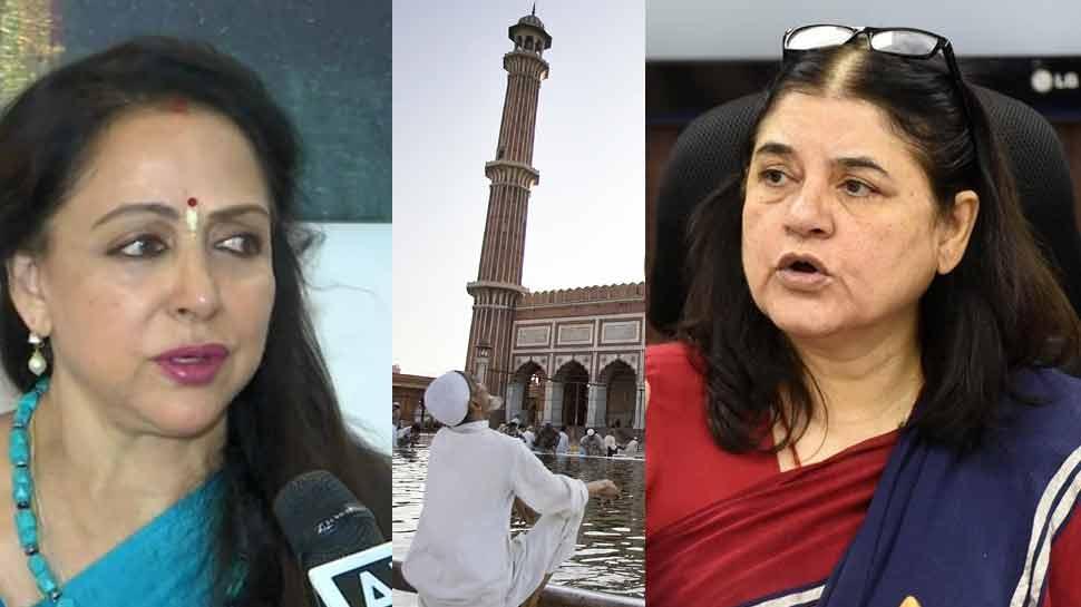 'मुस्लिमों' पर मेनका गांधी और हेमा मालिनी आमने-सामने