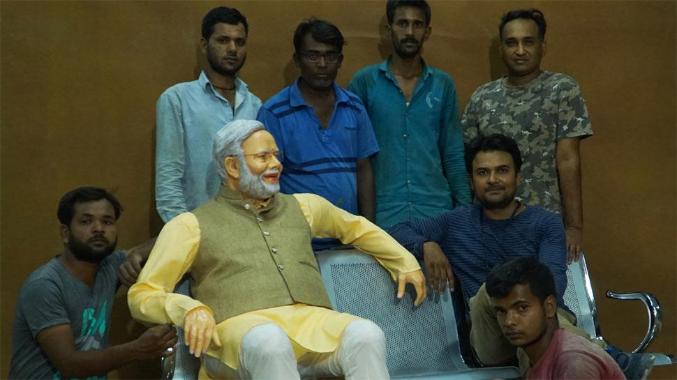Modi's Statue, लोकसभा चुनाव 2019, Lok Sabha elections 2019, General Elections 2019, Lok Sabha Elections,  2019 लोकसभा चुनाव